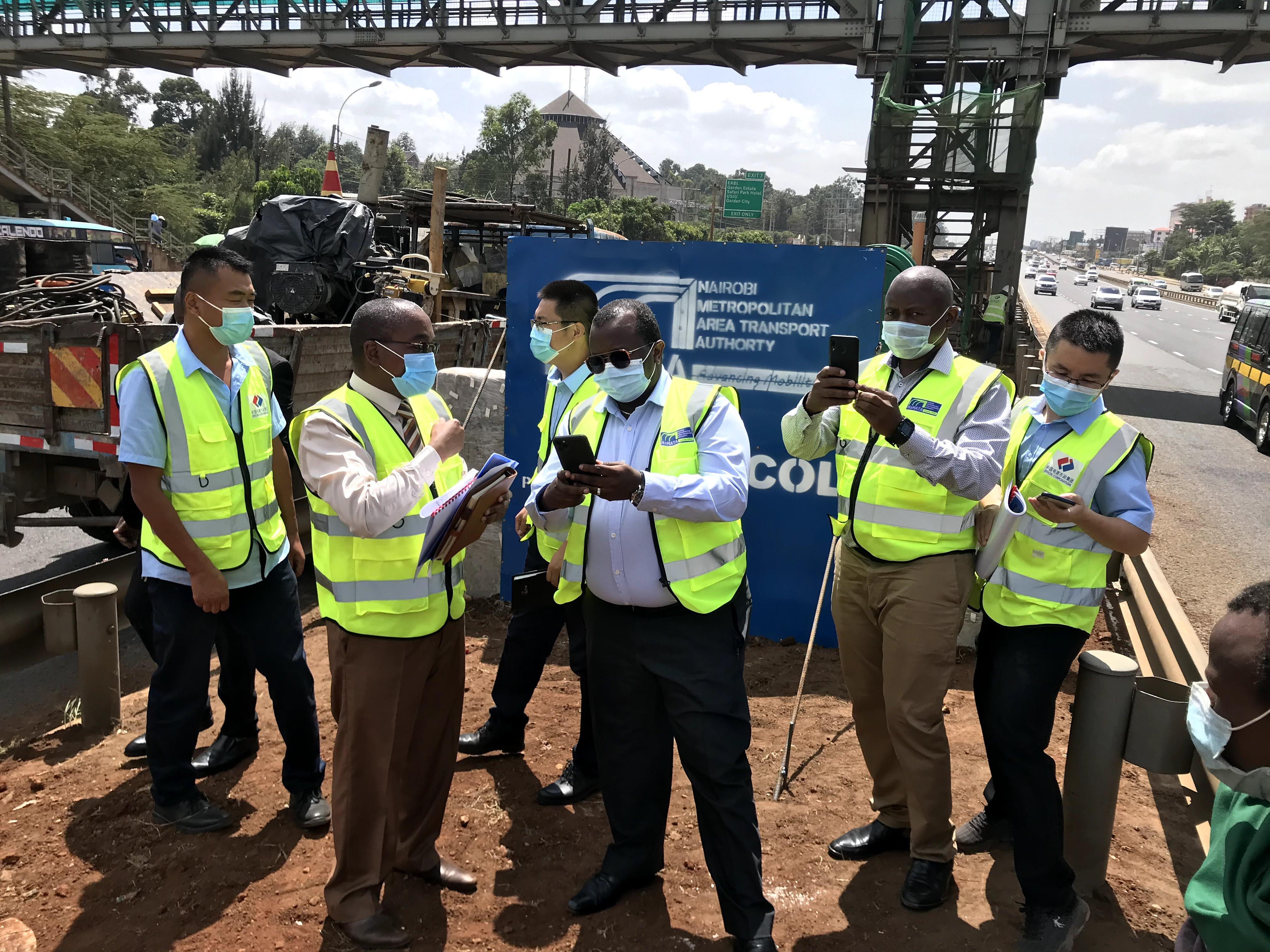 Permanent Secretary, Housing and Urban Development visit to Kasarani BRT Station Site